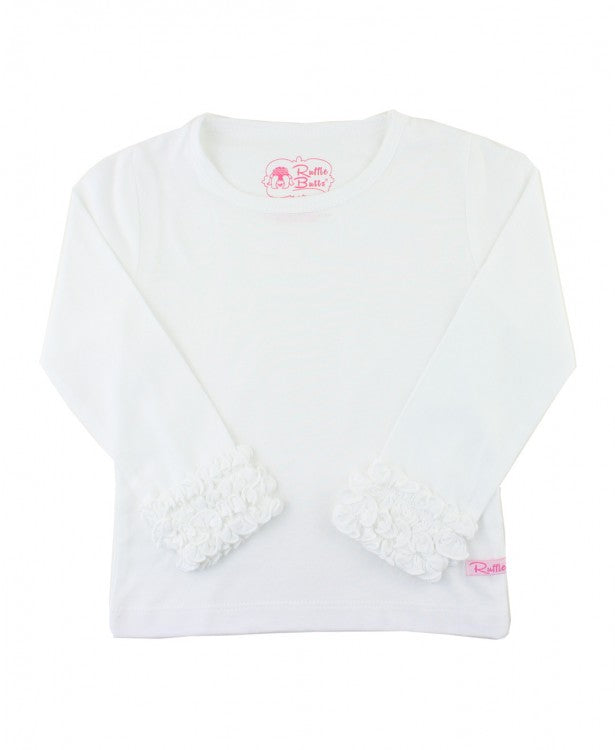 White Long Sleeve Tee - Posh Tots Children's Boutique