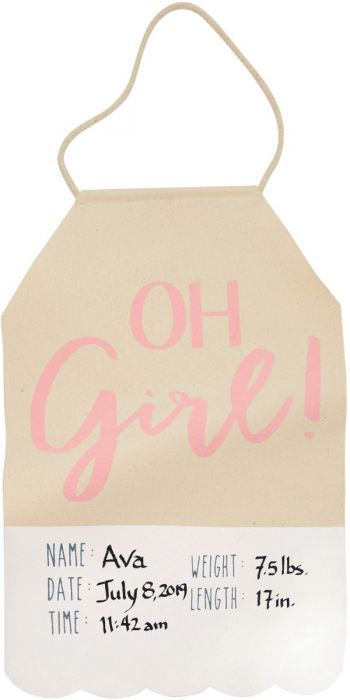 Oh Boy! Oh Girl! Banner - Posh Tots Children's Boutique