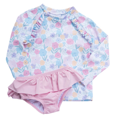 Charlotte Swim Rash Guard Set - Posh Tots Children's Boutique