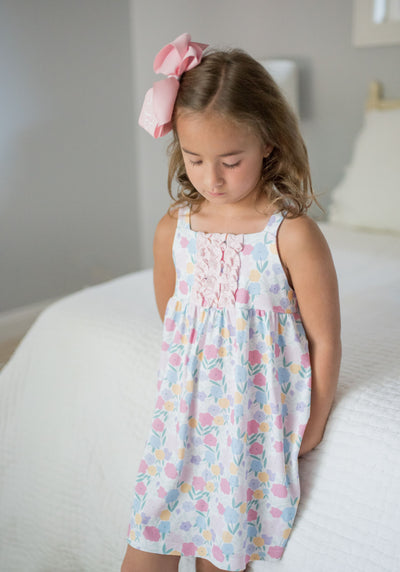 Vintage Floral Lounge Dress - Posh Tots Children's Boutique