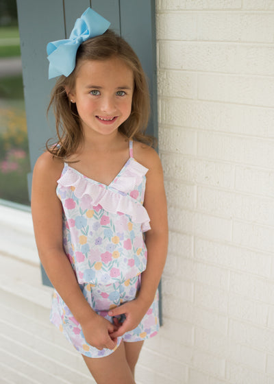 Flora Romper - Posh Tots Children's Boutique
