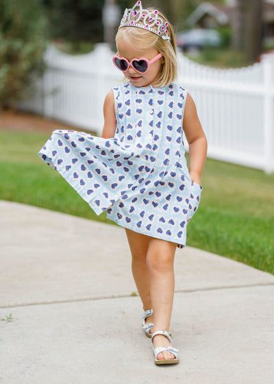 PRE ORDER Reagan Dress - Sunglasses - Posh Tots Children's Boutique