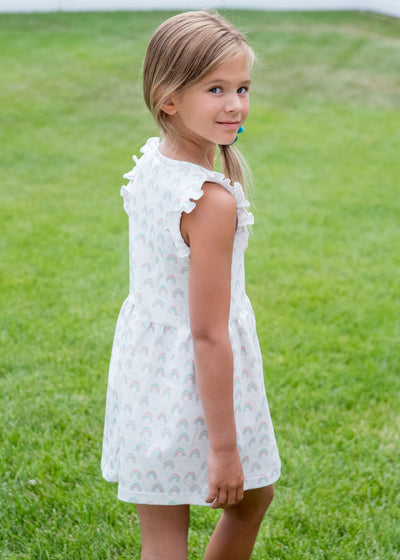 PRE ORDER Rosemary Rainbow Knit Dress - Posh Tots Children's Boutique