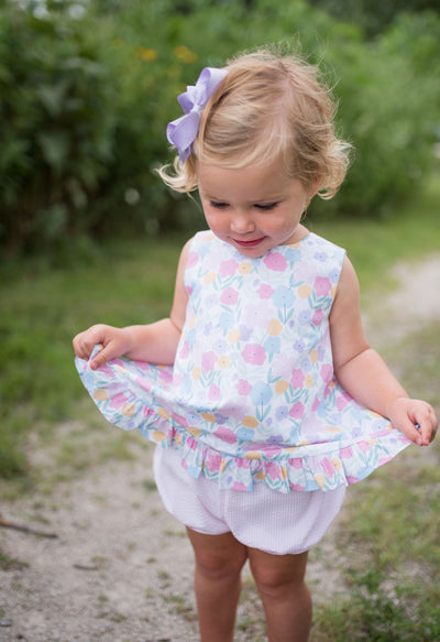 Mae Swing Bloomer Set - Vintage Floral - Posh Tots Children's Boutique