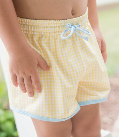 James Swim Shorts - Yellow - Posh Tots Children's Boutique