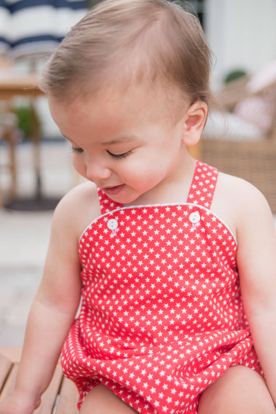 PRE ORDER Louie Bubble - Red Stars - Posh Tots Children's Boutique
