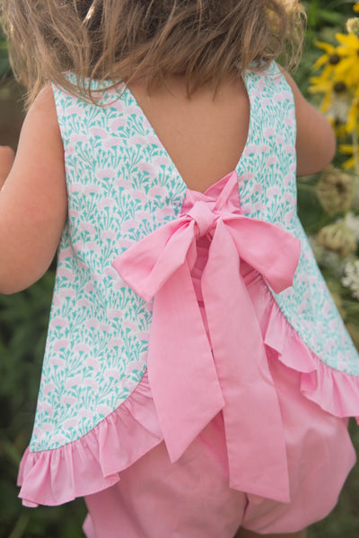 Mae Swing Bloomer Set - Spring Floral - Posh Tots Children's Boutique
