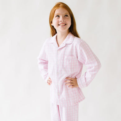 Pink Gingham Pajama Set - Posh Tots Children's Boutique