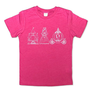 Princess Trio Short Sleeve Tee - Posh Tots Children's Boutique