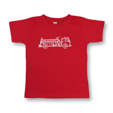 Fire Truck Short Sleeve Tee - Posh Tots Children's Boutique