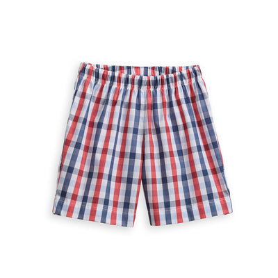 Printed Boy's Play Short - Ross Check - Posh Tots Children's Boutique