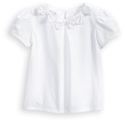 White Everly Blouse - Posh Tots Children's Boutique