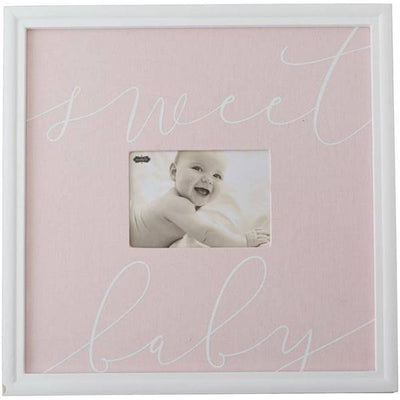 """Sweet Baby"" Picture Frame, Pink - Posh Tots Children's Boutique"