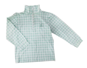 Bennett Zip Up Jacket - Green Check - Posh Tots Children's Boutique