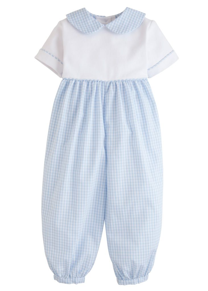 Peter Pan Romper - Light Blue - Posh Tots Children's Boutique