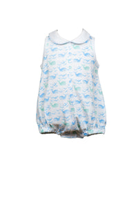 9m Brooks Boy Bubble - Wellington Whale Collection - Posh Tots Children's Boutique