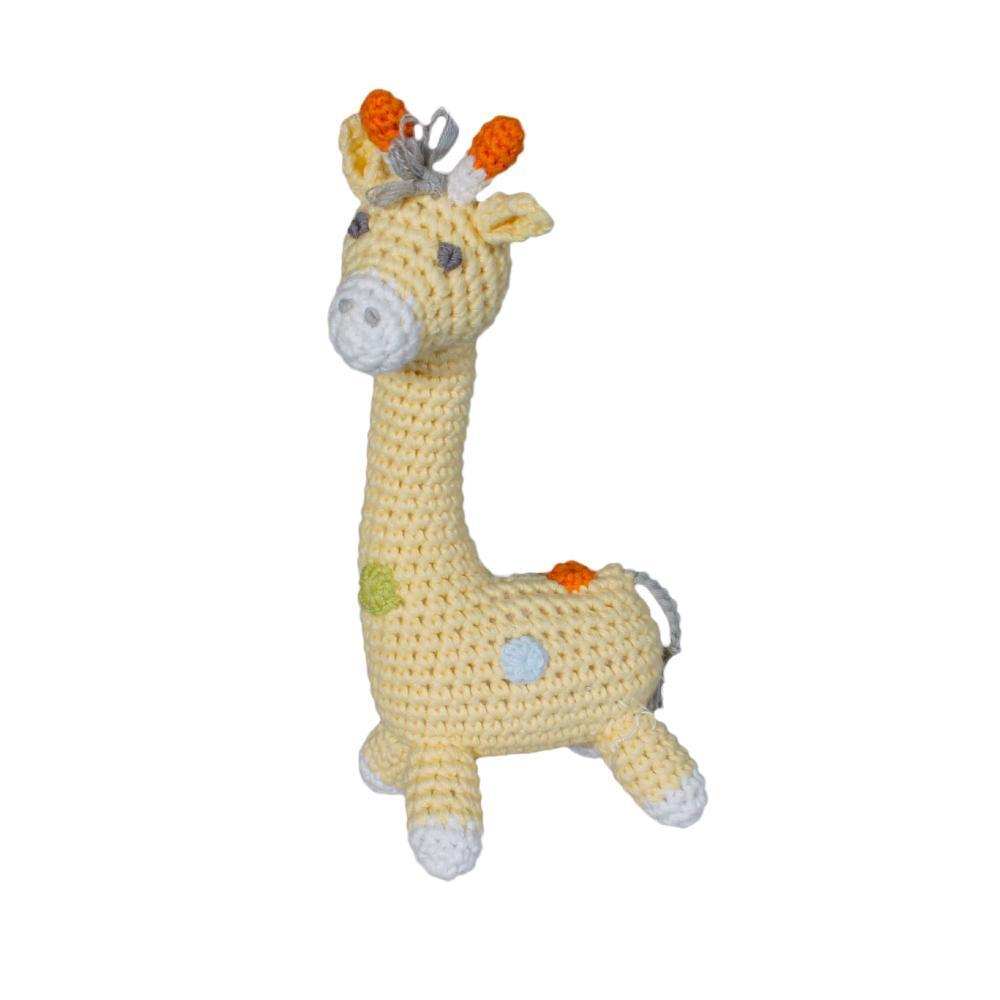 Giraffe Crochet Dimple Rattle - Posh Tots Children's Boutique