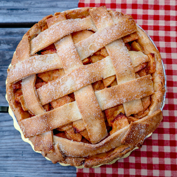 gluten-free vegan double crust apple pie