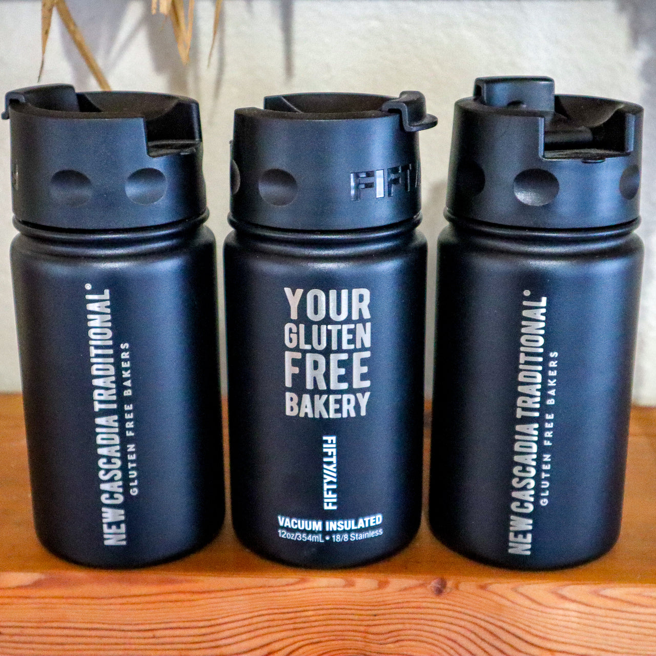gluten-free bakery beverage flask
