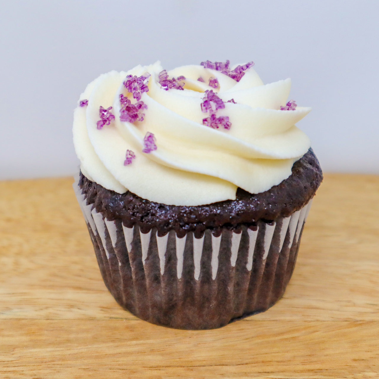 Vegan Chocolate Cupcakes with Vanilla Frosting