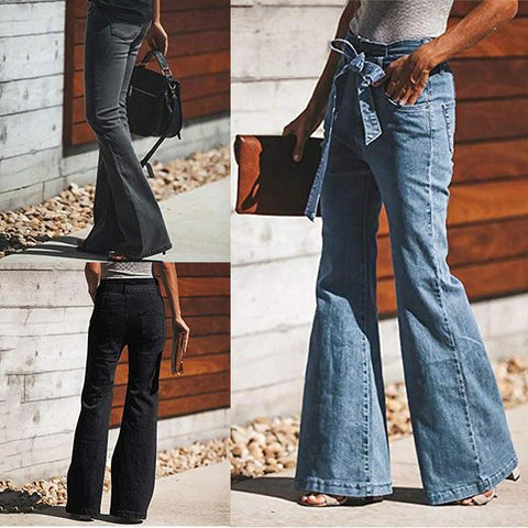 70s Denim Bell Bottoms Boot Cut Jeans