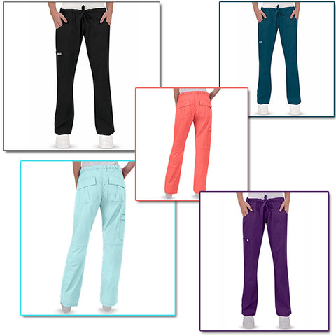 Women's Solid Color Pocket Drawstring Pants