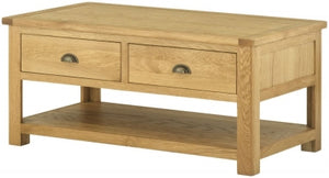 Coffee Table with Drawers - oak