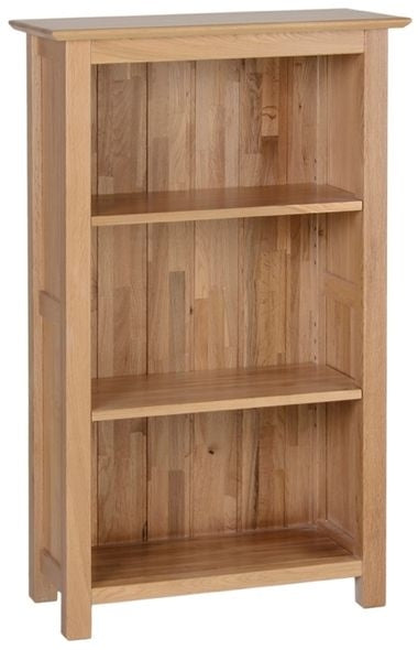 Contemporary Oak 3' NARROW BOOKCASE