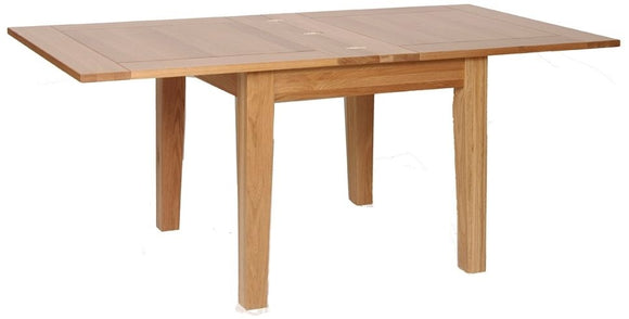Contemporary Oak 3' X 3' FLIP TOP EXTENDABLE TABLE