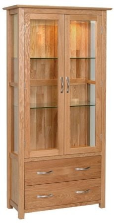 Contemporary Oak DISPLAY CABINET