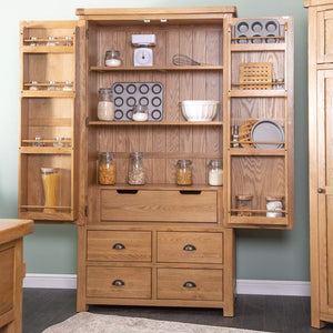 Kitchen Large Larder Unit - oak