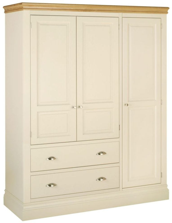 TRIPLE WARDROBE WITH 2 DRAWERS