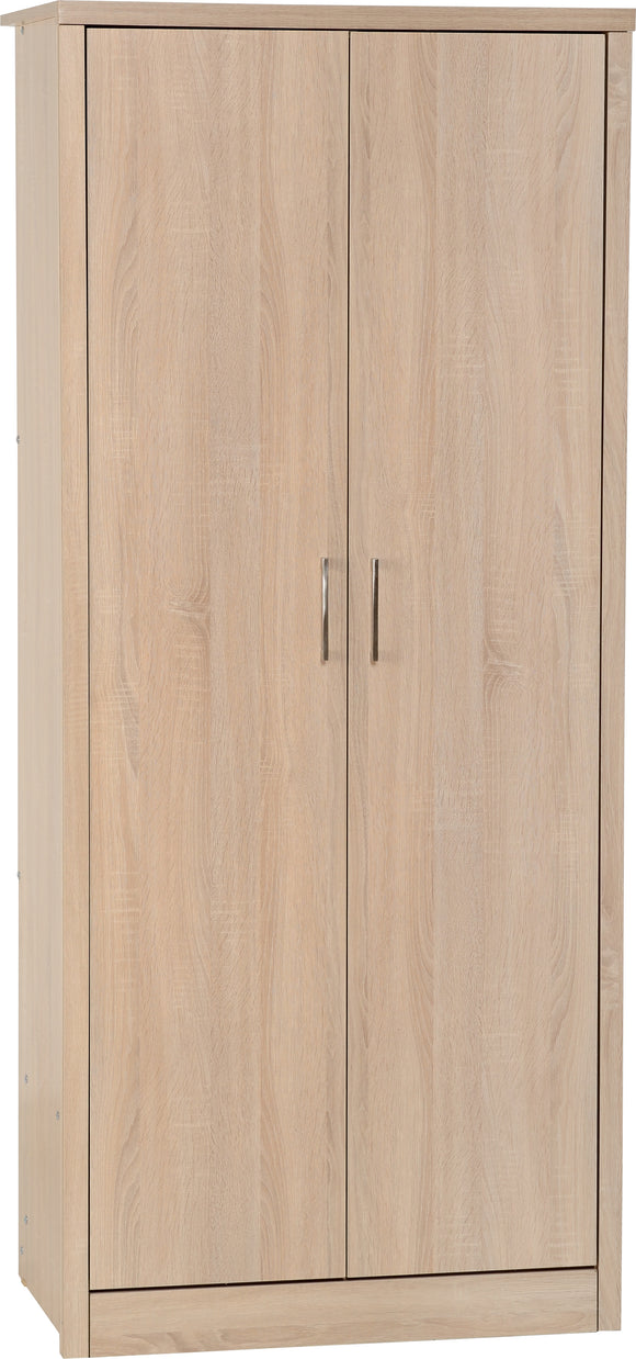 Light Oak Effect Veneer2 Door Wardrobe