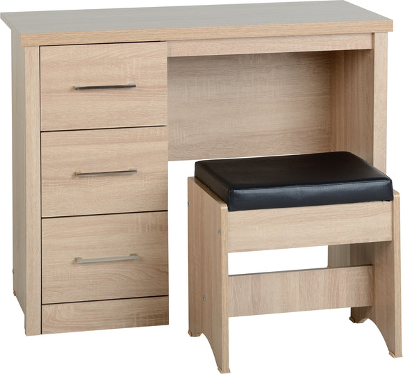 Light Oak Effect Veneer 3 Drawer Dressing Table Set