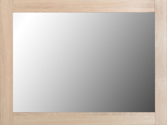 Light Oak Effect Veneer Mirror