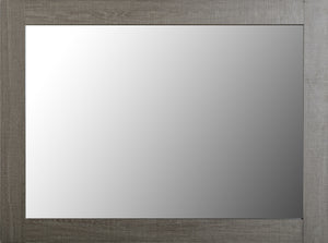 Black Wood Grain Mirror