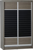 Black Wood Grain 2 Door Sliding Wardrobe