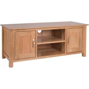 Contemporary Oak LARGE TV UNIT