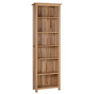 Contemporary Oak 6' NARROW BOOKCASE