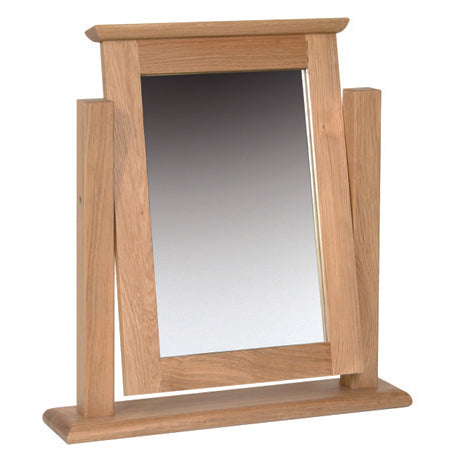 Contemporary Oak SINGLE DRESSING TABLE MIRROR