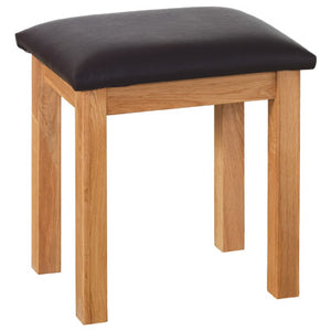 Contemporary Oak DRESSING TABLE STOOL