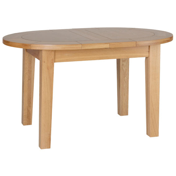 Contemporary Oak SMALL D END EXTENDING TABLE 1315mm