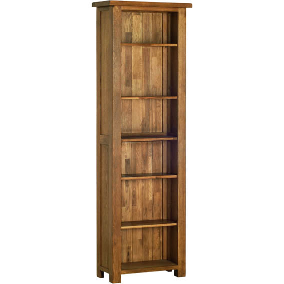 Rustic Oak 6' NARROW BOOKCASE