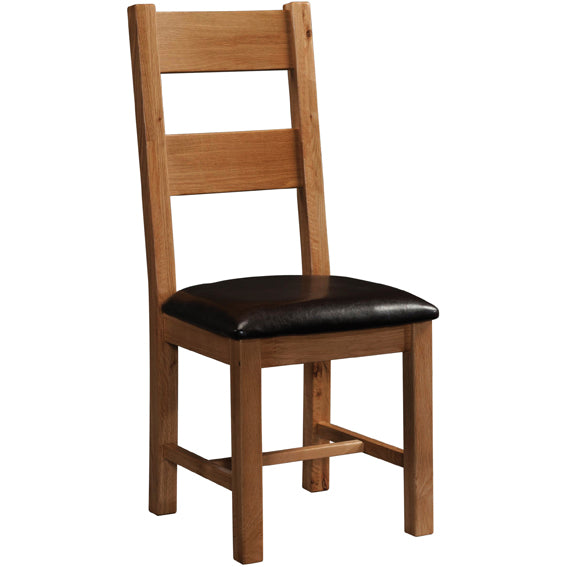 Rustic Oak LADDER BACK CHAIR