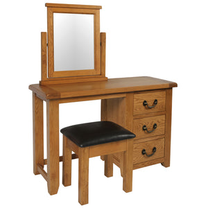 Chunky Wax SINGLE PEDESTAL DRESSING TABLE