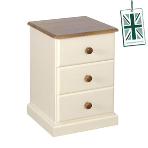 Torridge 3 Drawer Bedside