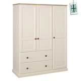 Torridge 2 Drawer Deep Triple Wardrobe