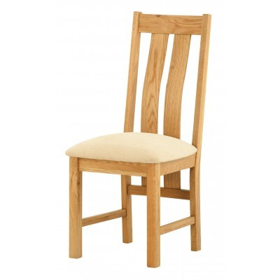 Upholstered Dining Chair - oak