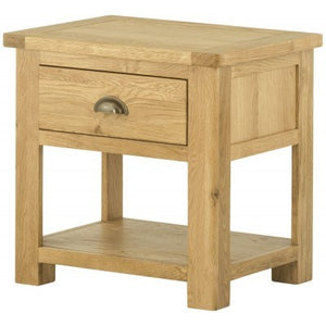 Lamp Table with Drawer - oak