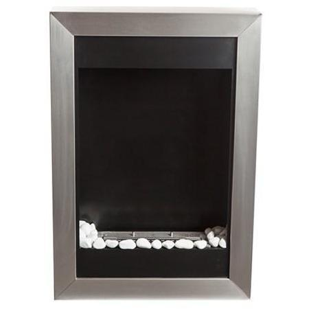 Bio Blaze Square Vertical Wall Mounted Bio-Ethanol Fireplaces - eFireplaceDirect.com